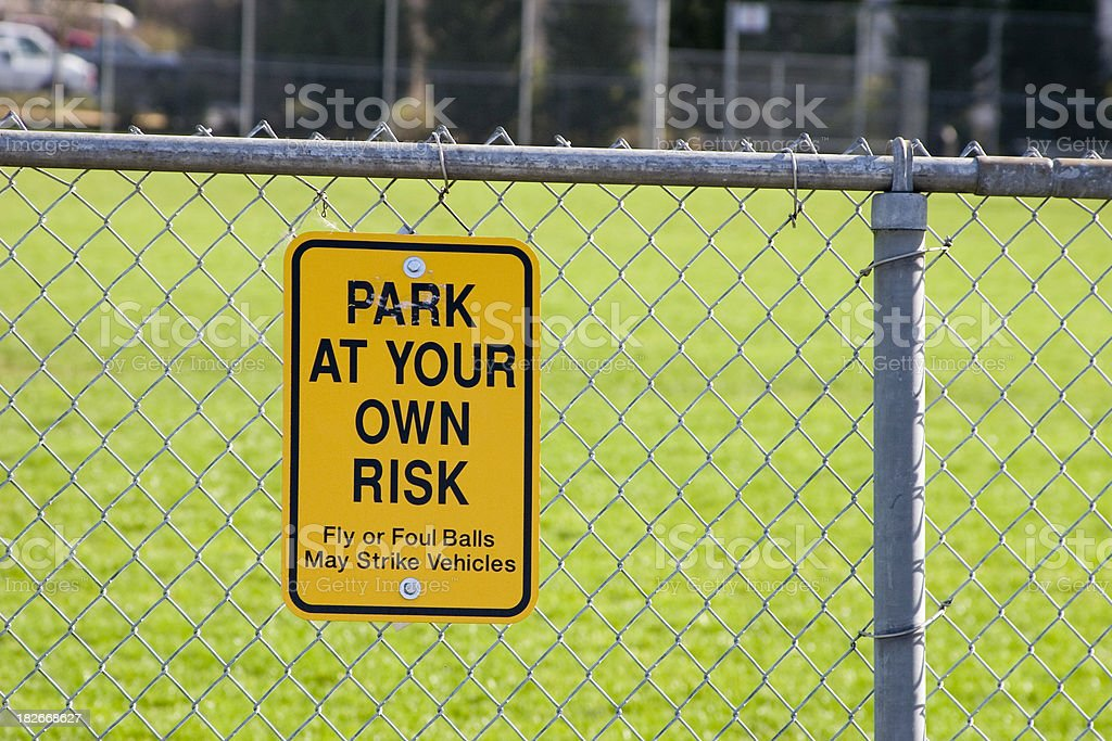 Park at your own risk royalty-free stock photo