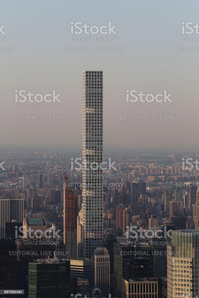 432 Park Avenue. America, New York City - May 13, 2017 stock photo