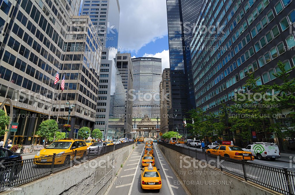 Park Avenue and Metlife Building royalty-free stock photo