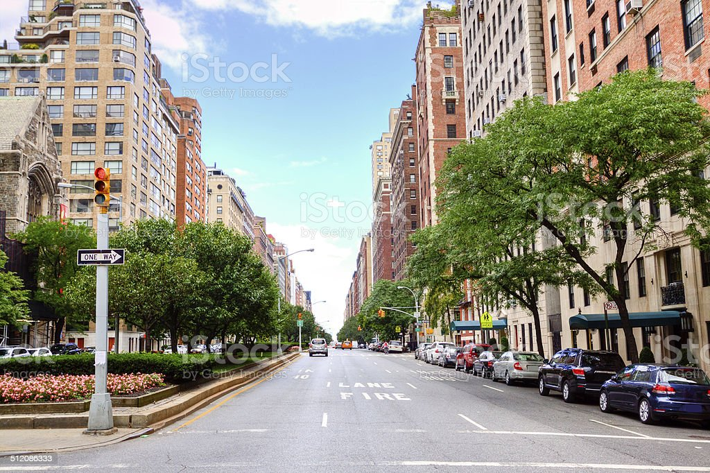 Park Avenue, Manhattan Upper East Side, New York City. stock photo
