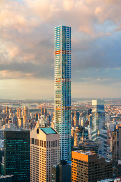 432 Park Avenue on New York City, the tallest residential building in the world stock photo