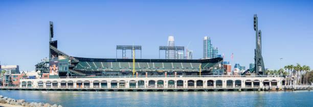 AT&T Park baseball arena stock photo