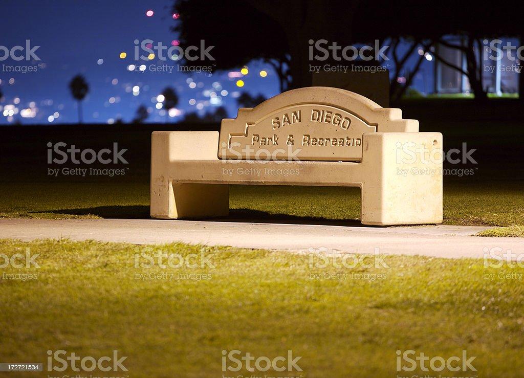 Park bench bei Nacht – Foto