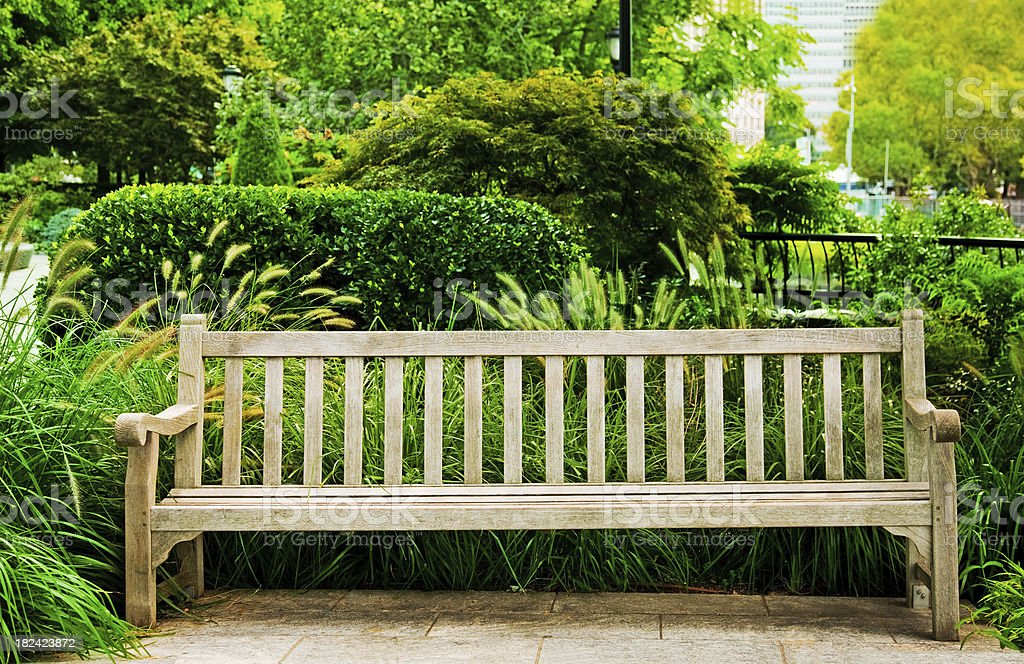 Park Bench In New York City Stock Photo More Pictures Of Bench