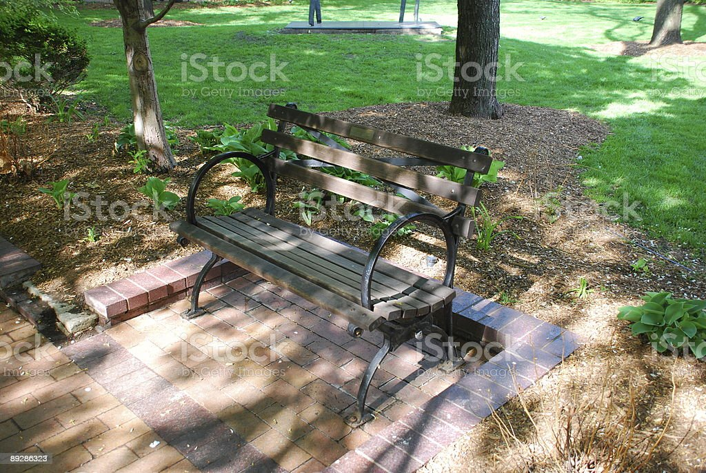 Park bench is waiting... stock photo