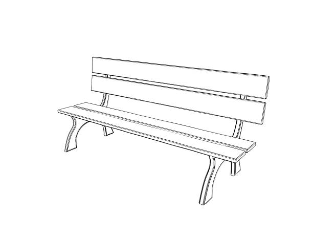 Draw Park Bench: Royalty Free Drawing Of The Sitting On A Park Bench