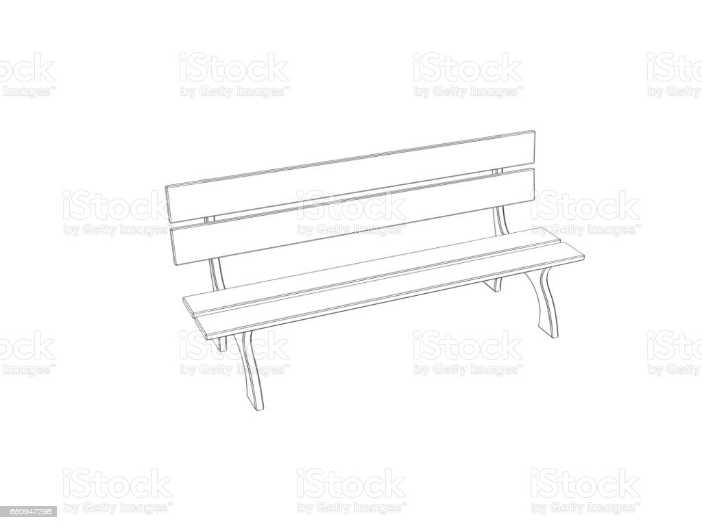 Drawing Of The Sitting On A Park Bench Pictures, Images And Stock Photos