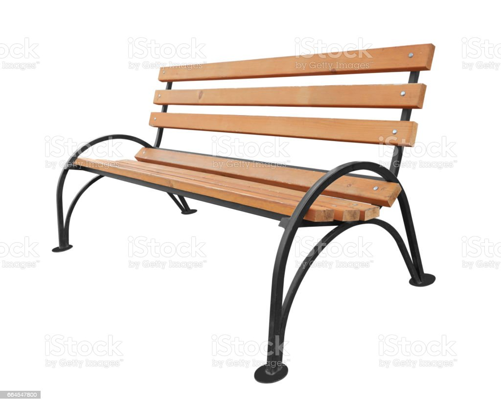 Park bench isolated royalty-free stock photo