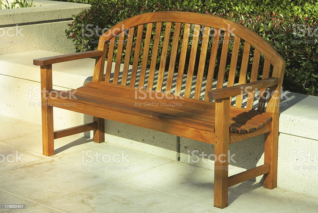 Park Bench Loveseat Furniture royalty-free stock photo