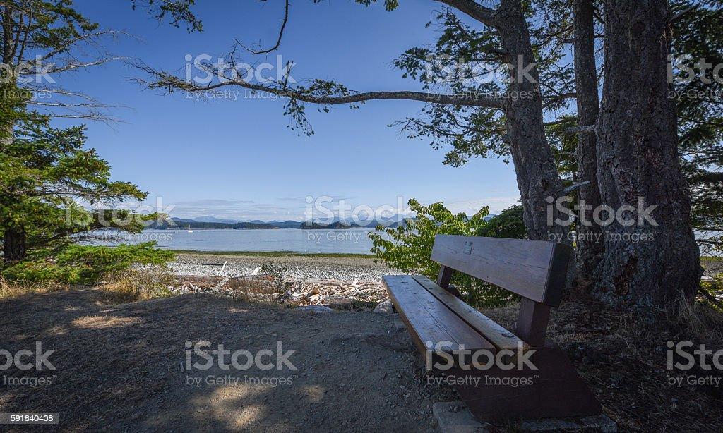 Park by the beach stock photo