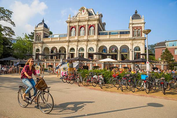 Park Cafe in VondelPark in Amsterdam stock photo