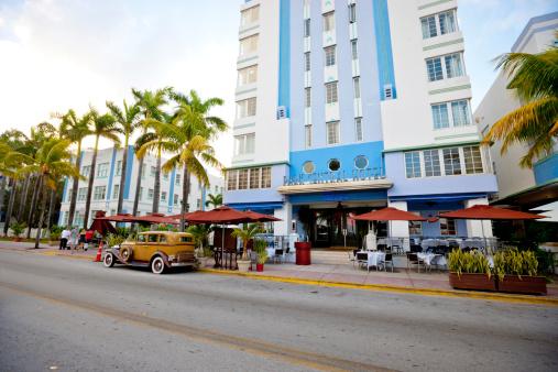 park central hotel ocean drive miami beach stock photo