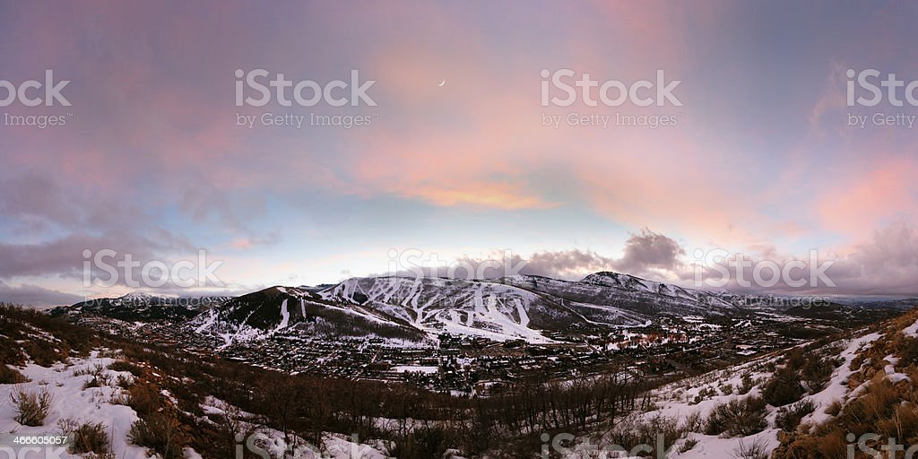 Park City, Utah Panoramic stock photo
