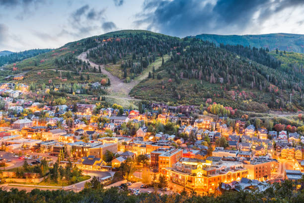 Park City, Utah, USA stock photo