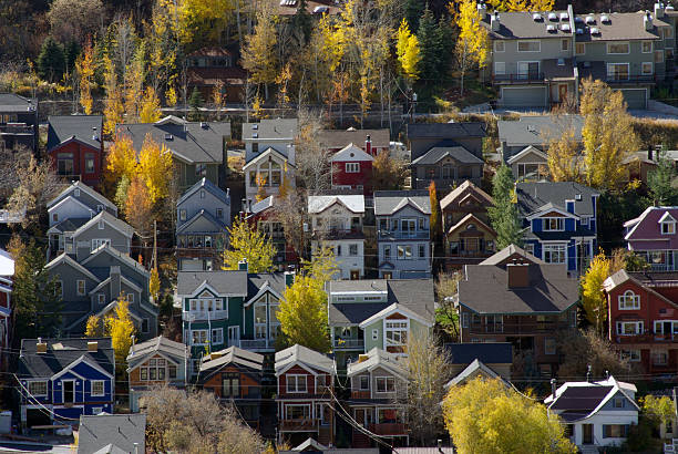 park city village - mikefahl stock pictures, royalty-free photos & images