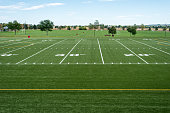 park district football and soccer fields ready for game day