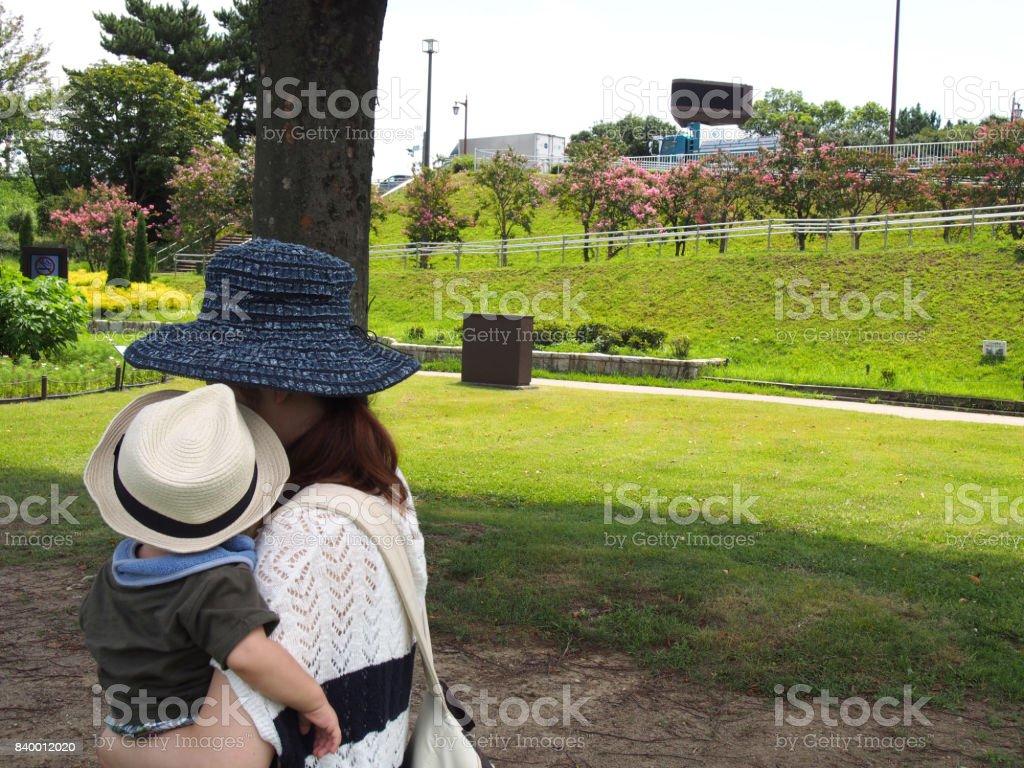 Park & Family stock photo