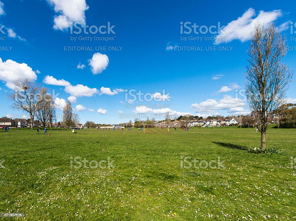 Park Football stock photo
