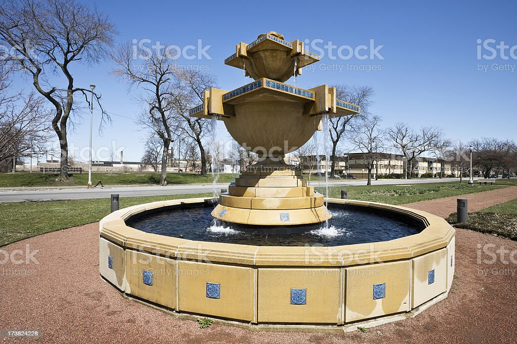 Park Fountain in Chicago royalty-free stock photo