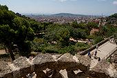istock Park Güell in Barcelona, by gaudi 1257915590