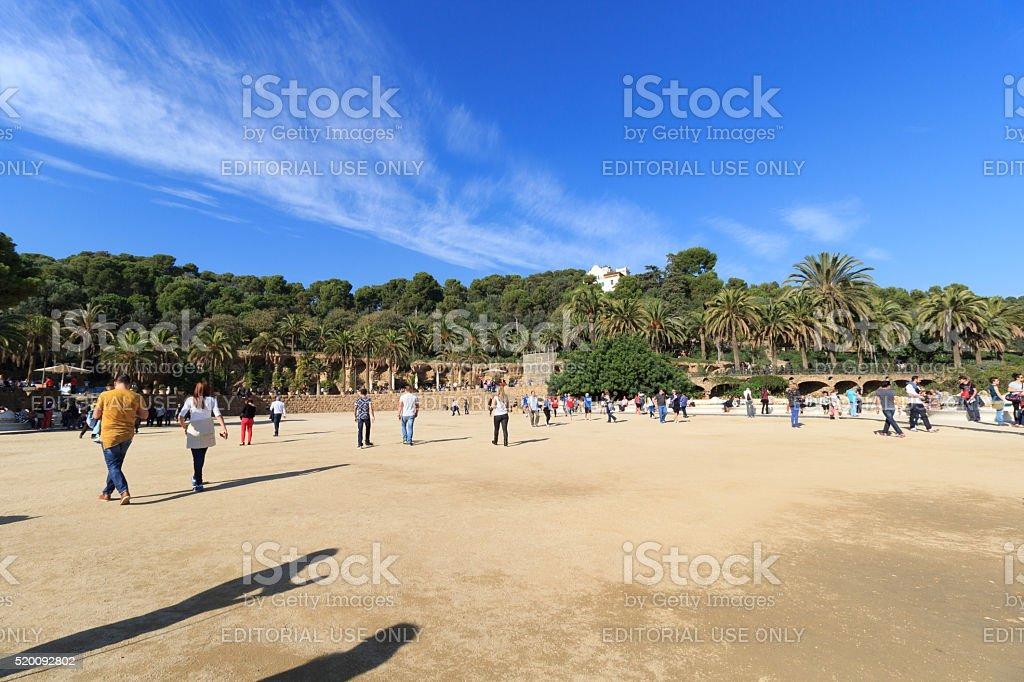 Terraza Principal Parque Güell En Barcelona España Foto De
