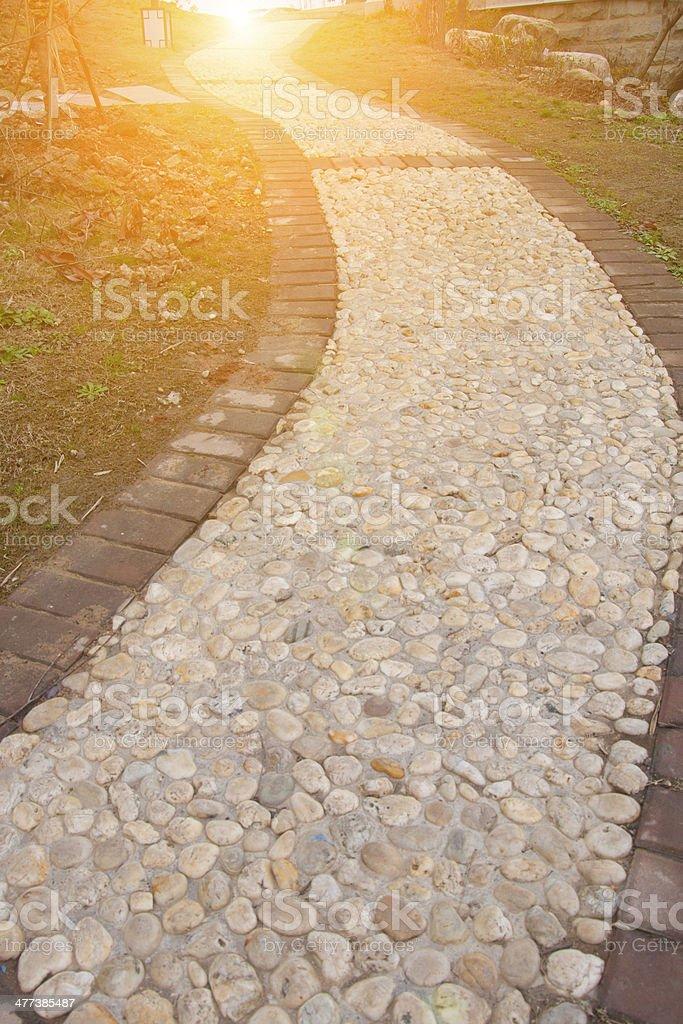 park gravel trail royalty-free stock photo