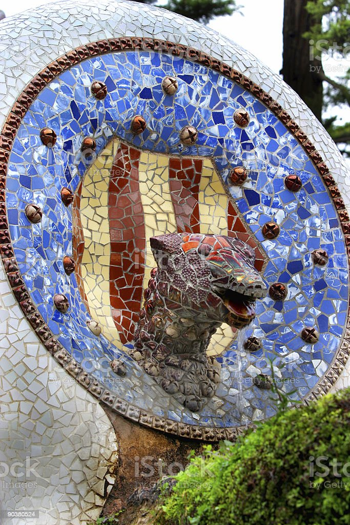 Parc Guell Architecture Barcelona Spain royalty-free stock photo