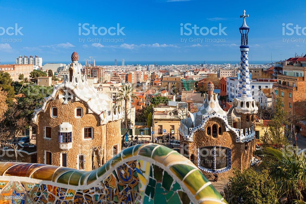 Park Guell, Barcelona, Spain stock photo