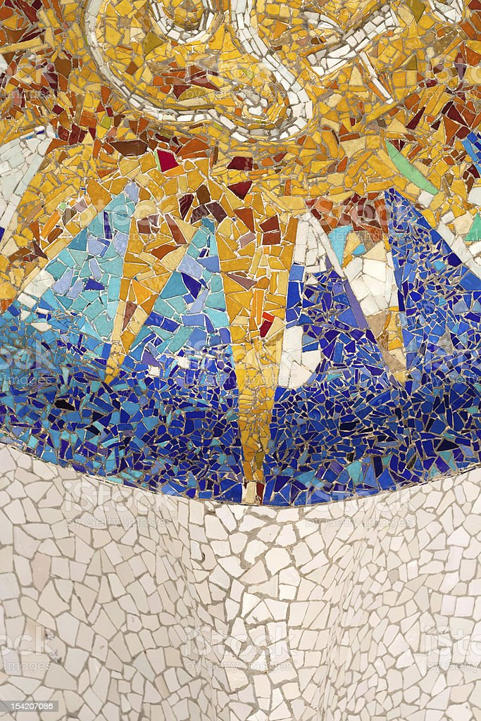 Park Guell. Decoration stock photo