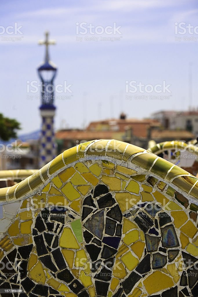 Park Guell detail royalty-free stock photo