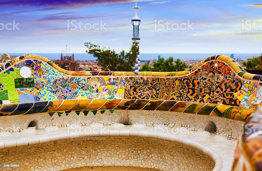 Park Guell in Barcelona royalty-free stock photo
