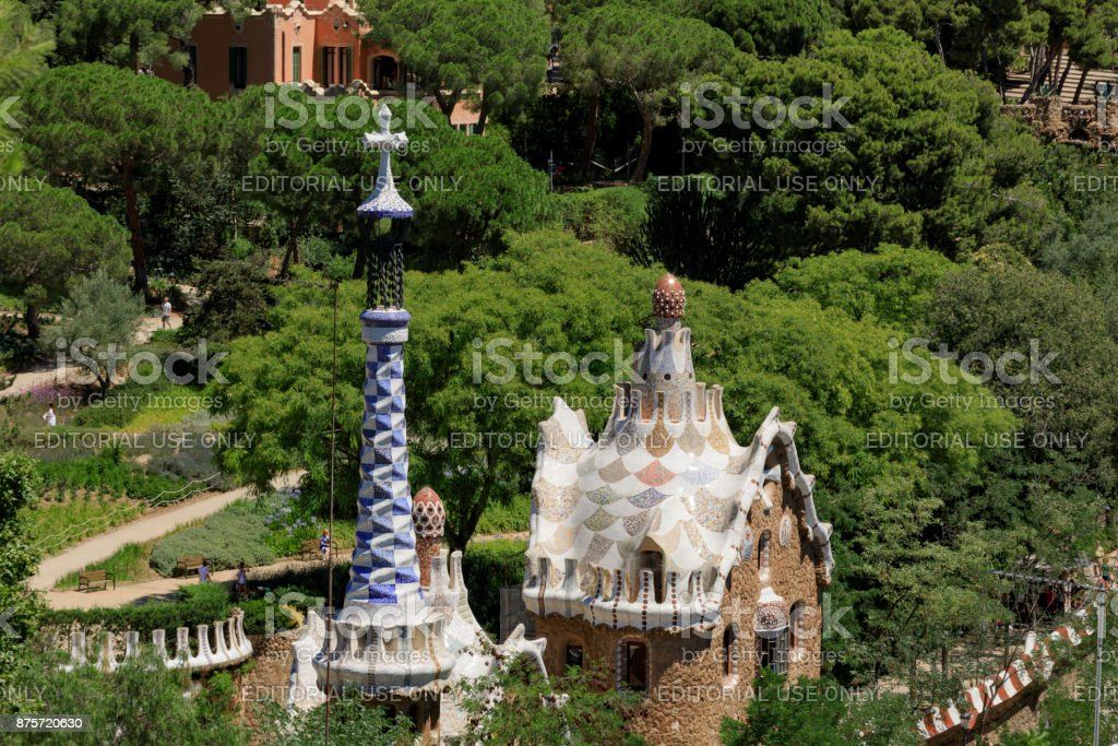Park Guell in Barcelona stock photo