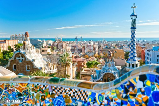 istock Park Guell in Barcelona, Spain. 148543868