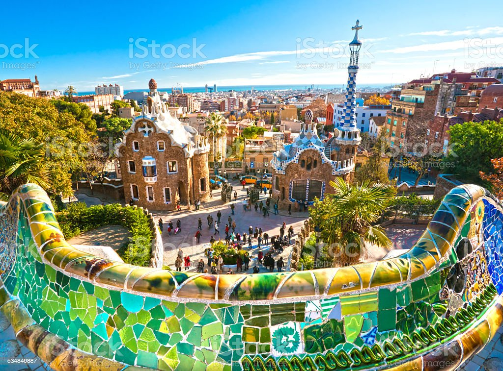 Park Guell in Barcelona, Spain. royalty-free stock photo