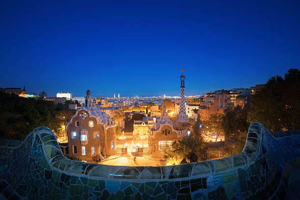 Park Guell in Barcelona, Spain Park Guell in Barcelona, Spain passeig de gracia stock pictures, royalty-free photos & images