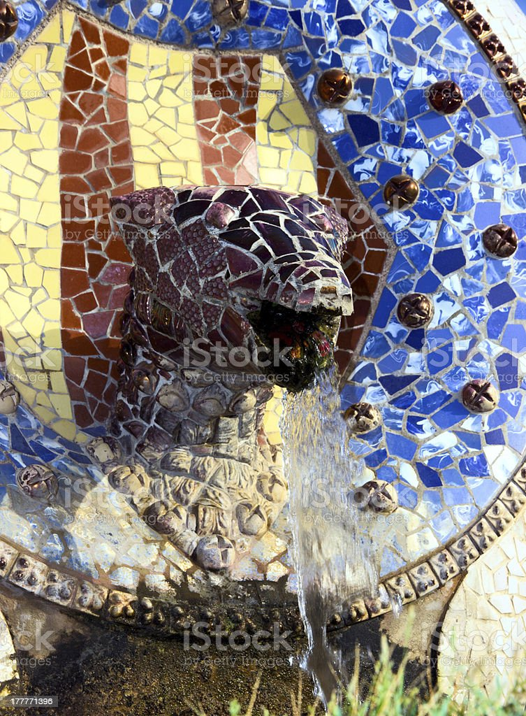park Guell of Barcelona. Spain. royalty-free stock photo