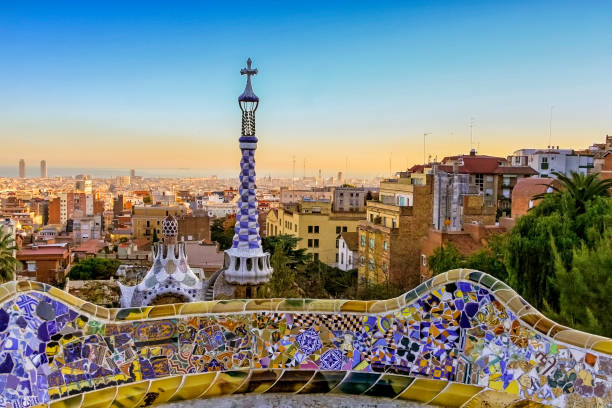 Park Guell Park Guell, Barcelona, Spain barcelona spain stock pictures, royalty-free photos & images