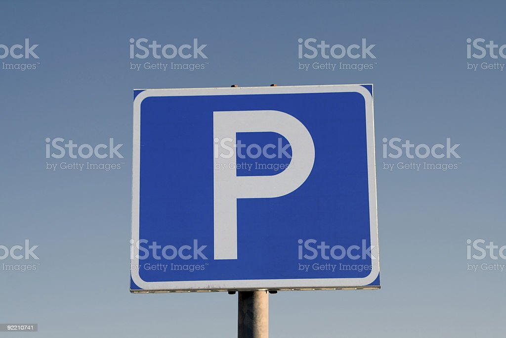 Park here royalty-free stock photo