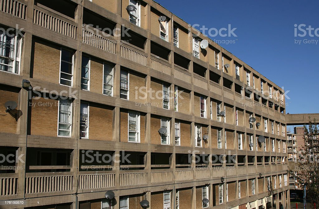 Park Hill Flats, Sheffield, England, Urban Brutalism Architecture royalty-free stock photo