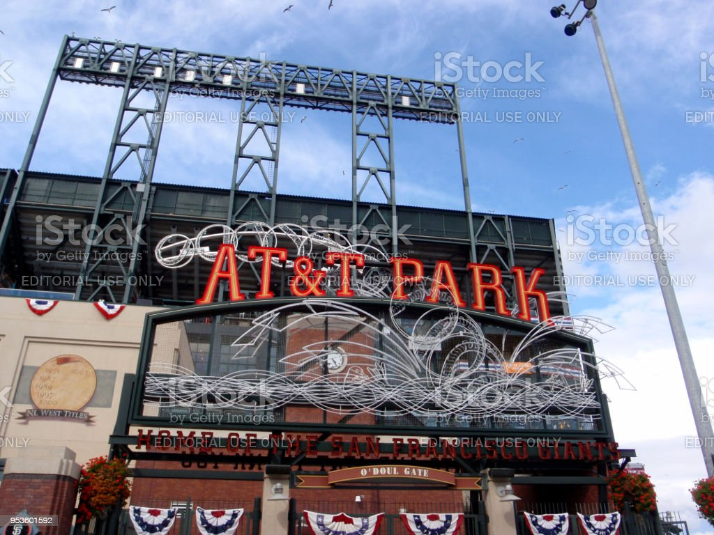 AT&T Park - Home of the Giants - Neon Sign during day stock photo