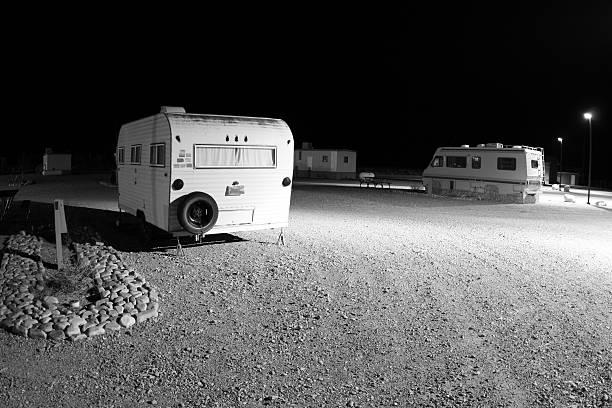 RV Park In Baker, Nevada stock photo