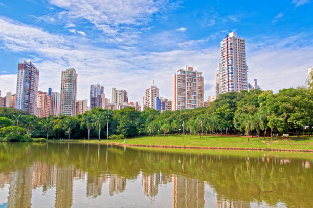 Park in Goiania, Brazil Many people have fun in this beautiful Park in Goiania city. goiás city stock pictures, royalty-free photos & images