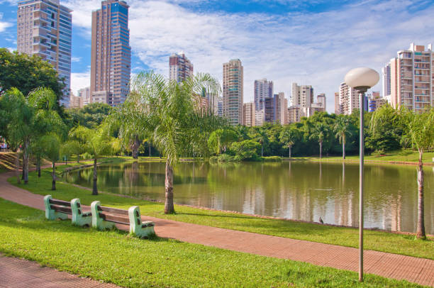 Park in Goiania, Brazil Many people have fun in this beautiful Park in Goiania city goiás city stock pictures, royalty-free photos & images