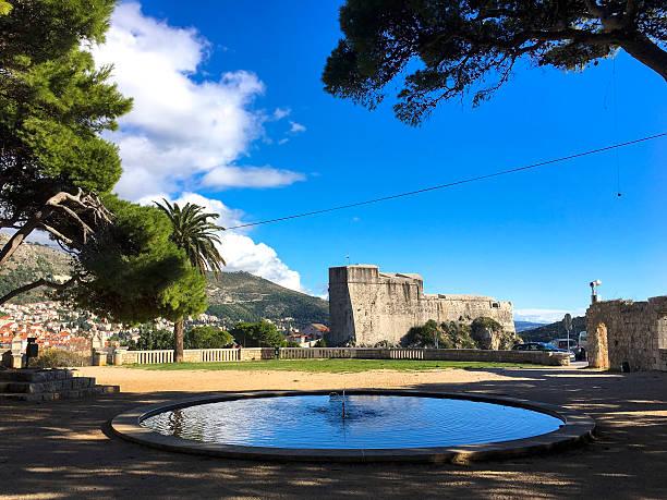 Park in Gradac, Dubrovnik, Croatia ストックフォト
