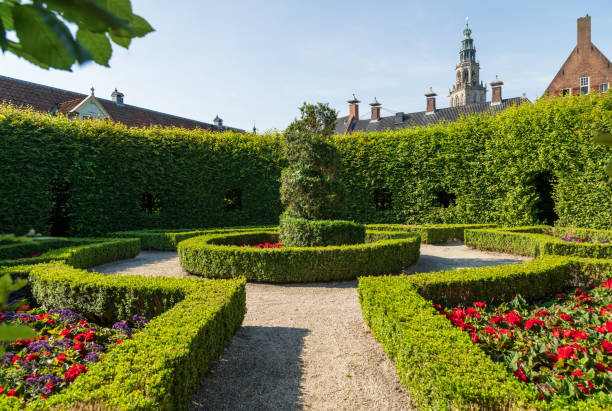 Park in Groningen stock photo