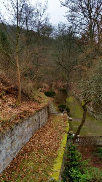 Park in Karlovy vary stock photo