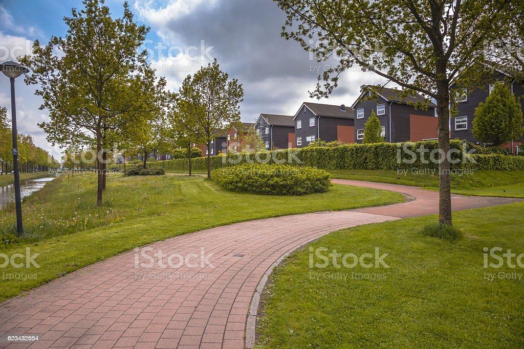 Park in Leek Groningen Netherlands - foto de acervo