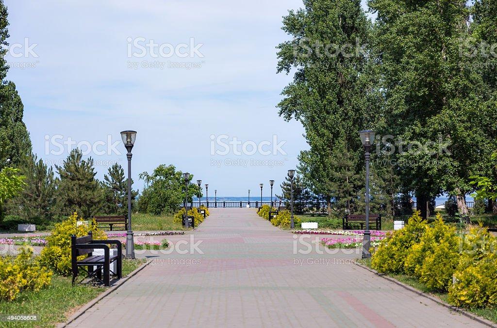 Park in Taganrog stock photo