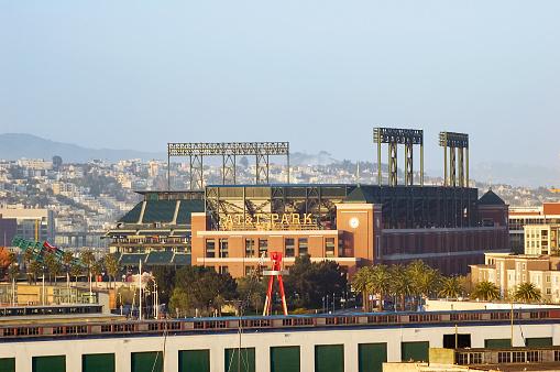 San Francisco, CA / USA – May 9, 2005: View of the baseball stadium known as AT&T Park in the City of San Francisco, California.