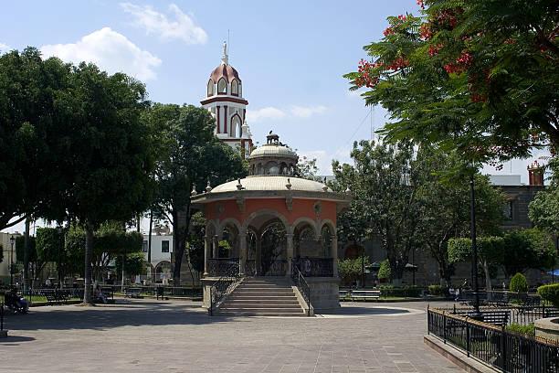 park in tlaquepaque stock photo
